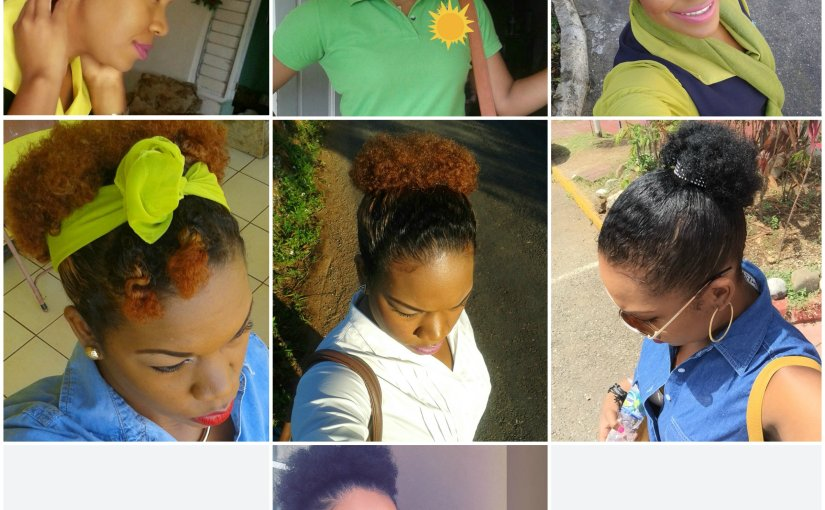 Natural Hair- Hair Growth Journey Over the 1 year period