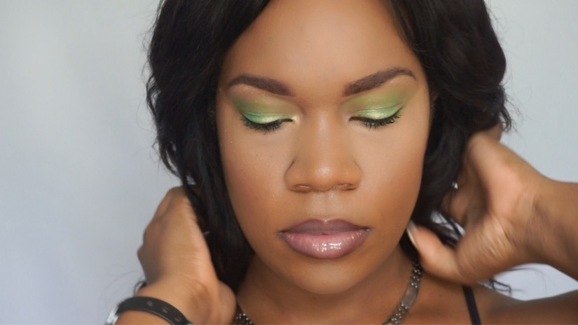 "Spring ""Green"" Makeup look"